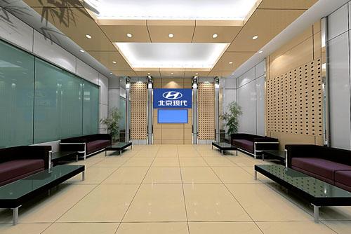 北京现代4s店设计效果图-信阳装饰公司|信阳家装公司